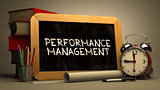 Hand Drawn Performance Management Concept on Chalkboard.