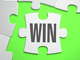 Win - Jigsaw Puzzle with Missing Pieces.