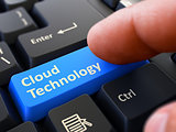 Cloud Technology - Written on Blue Keyboard Key.