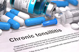 Diagnosis - Chronic Tonsillitis. Medical Concept.