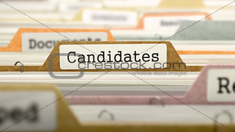 Candidates on Business Folder in Catalog.