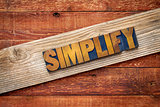 simplify word - rustic sign