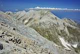 Panorama from Vihren Peak to Kutelo Peak, Pirin Mountain