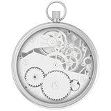Blank template stopwatch with cogwheel mechanism