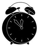 Vintage Alarm Clock Silhouette