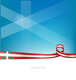 basque ribbon flag on sky  background