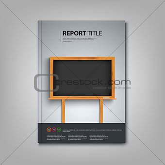 Brochures book or flyer with black board in the background template