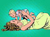 Mother child childhood motherhood happy