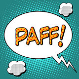 Paff the word comic style