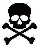 Skull with Crossbones Illustration