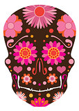 Mexican Skull Art Illustration