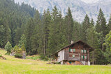 Typical house in the Swiss alps