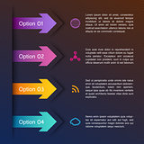 Abstract arrows infographic