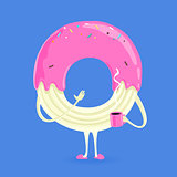 Vector Character Donut