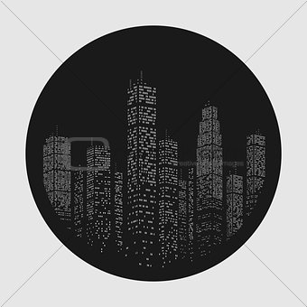 City Skyscraper Vector Emblem