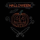 Minimal print for halloween