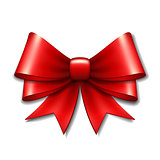 Red vector gift bow