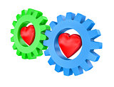 Hearts in gearwheels