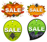 Set Halloween sale template label