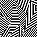 Abstract background of striped shapes.