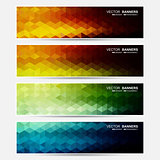 Vector colorful banners.