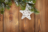 Christmas fir tree and star shape decor