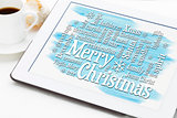Merry Christmas greetings word cloud