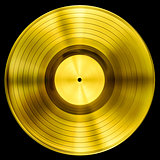gold record vinyl disc award isolated with clipping path included