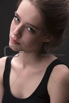 Close portrait of attractive girl