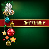 Abstract background with Christmas bells and white decorations
