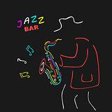 Neon Sign Saxophone Jazz