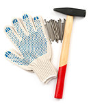Gloves with hammer