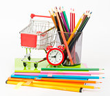 Shopping cart with copybooks