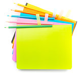 Crayons on copybooks