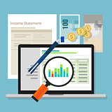 income statement accounting software money calculator application laptop