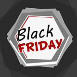 black friday, hexagons label
