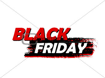 black Friday, drawn banner