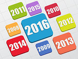 new year 2016 and previous years