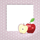 universal page layout with apple icon, recipe or daily special card template, vector drawing