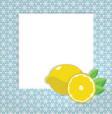 universal page layout with lemon icon, recipe or daily special card template, vector drawing