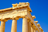 Architecture detail of Pantheon temple in Acropolis