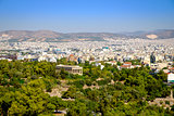 Scenic citiscape of Athens with ancient temple