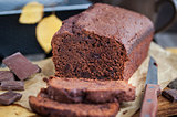 Homemade chocolate banana loaf cake