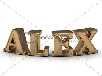 ALEX - Family and Name of bright gold letters