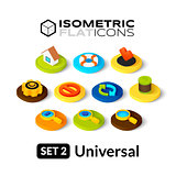 Isometric flat icons set 2