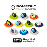 Isometric flat icons set 5