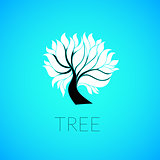 Paper tree, vector illustration