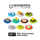 Isometric flat icons set 7