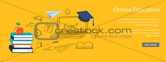 Flat design  for online education