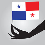 Hand with Panama flag